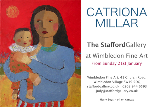 Catriona Millar at the Stafford Gallery Jan 2018