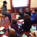 Primary School children meet Catriona at her Tolquhon Gallery solo_7127929861_l